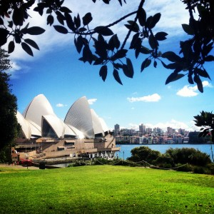 Sydney Opera House from the Botanic Gardens