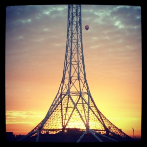 Arts Centre Melbourne spire at dawn